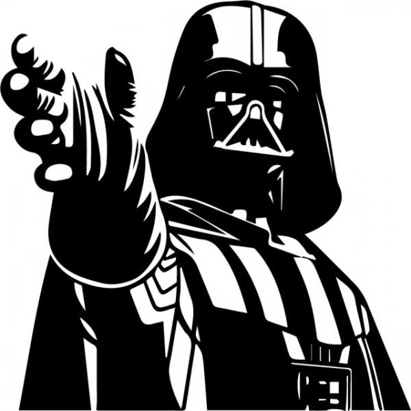 Sticker laptop - Darth Vader