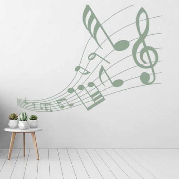 Sticker Music Notes Musical Score