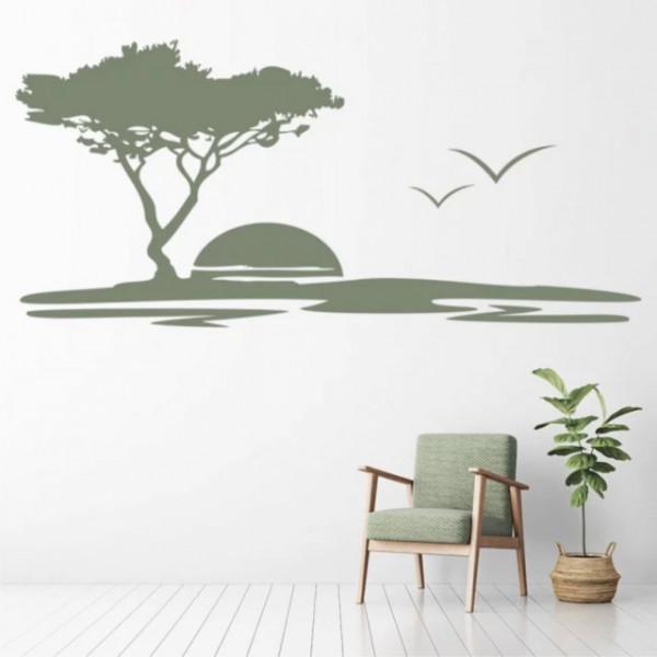 Sticker Safari Sunset Africa