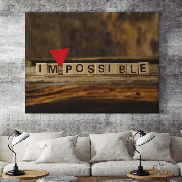 Tablou motivational - Impossible scrabble