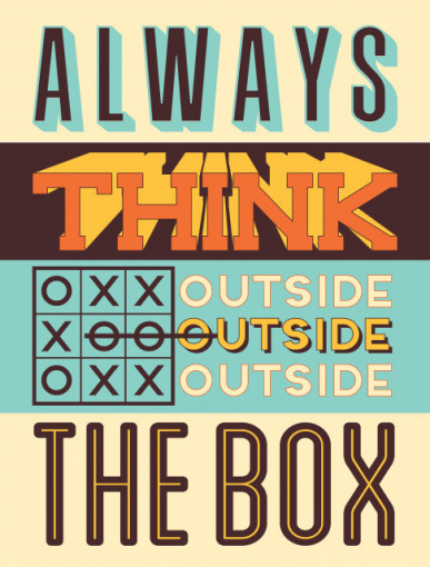 Tablou motivational - Think outside the box