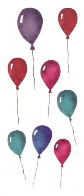 Tatuaj temporar -baloane- 6x15cm