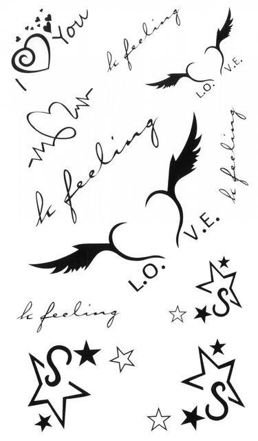 Tatuaj temporar -feeling- 10x17cm