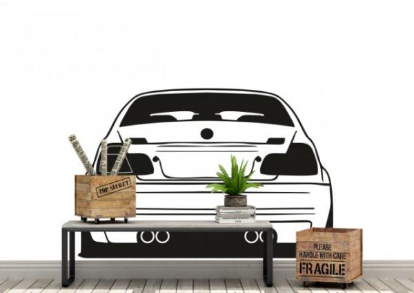 Auto BMW sticker vedere spate