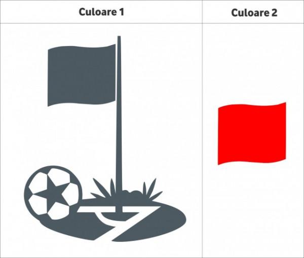 Minge de fotbal (in doua culori)