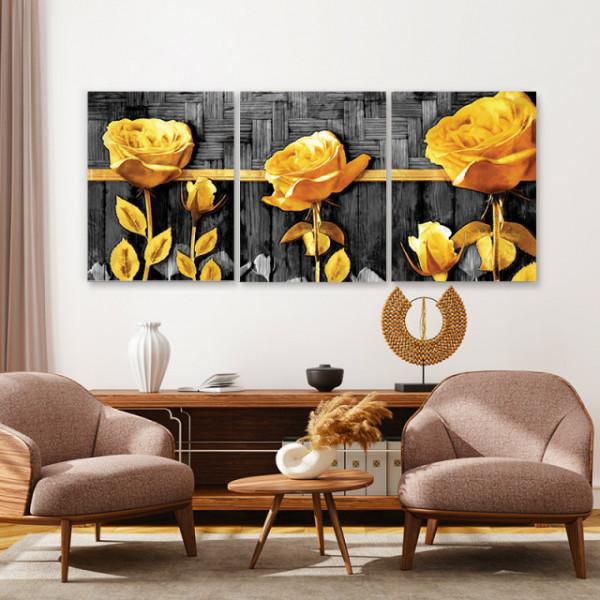 Set tablouri canvas - Golden Roses