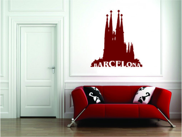 Sticker De Perete Barcelona Sagrada Familia