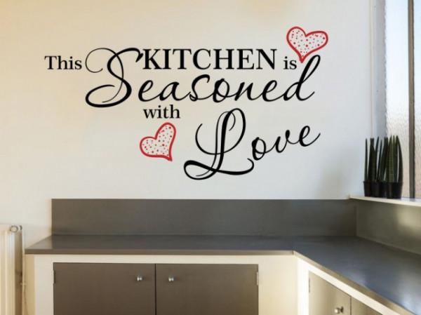 Sticker De Perete Kitchen Seasoned With Love