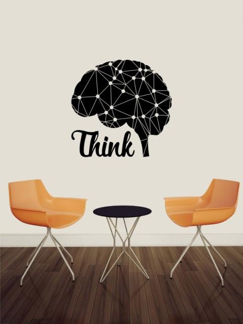 Sticker De Perete Thinking Brain