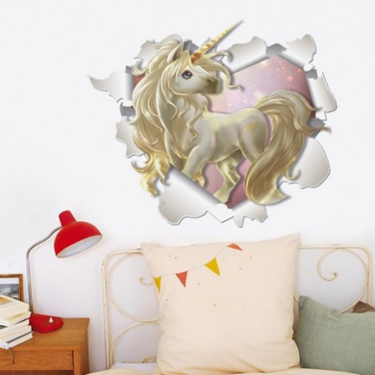 Sticker de perete Unicorn 3D