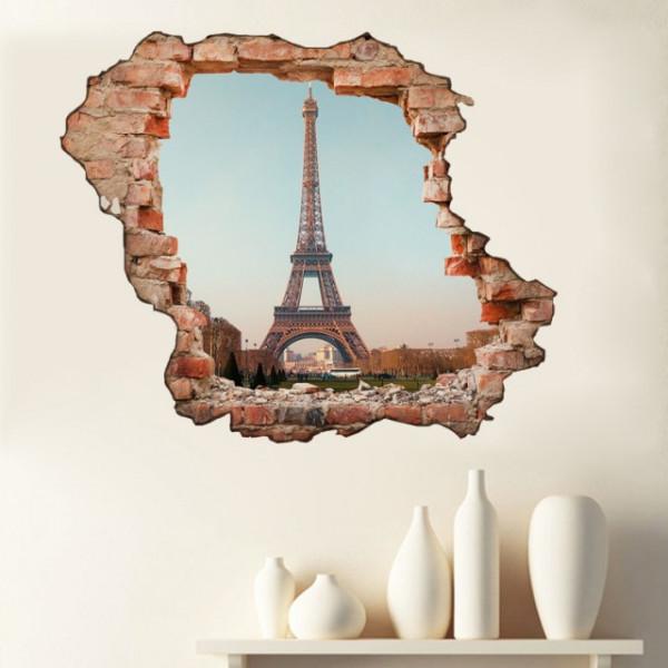 Sticker De Perete Vedere Catre Paris