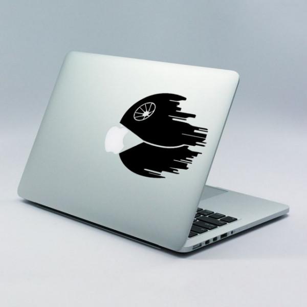 Sticker Pentru Laptop - Death Star Pacman