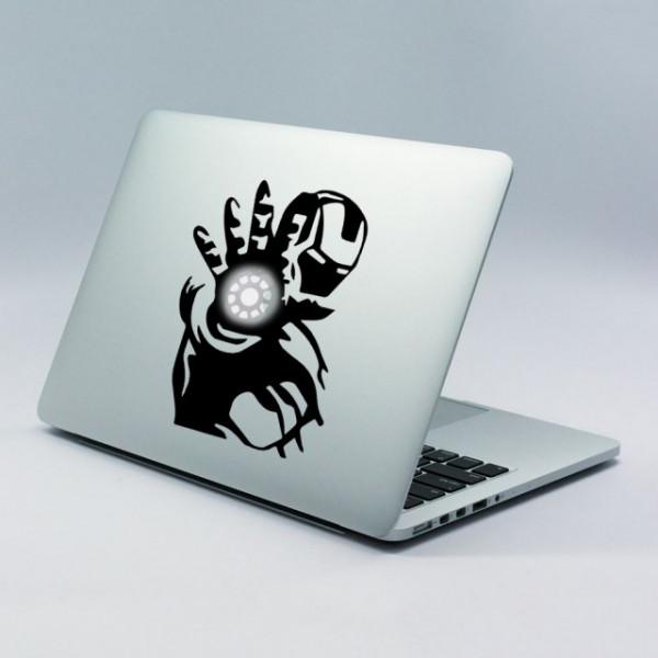Sticker Pentru Laptop - Iron Man Light Beam