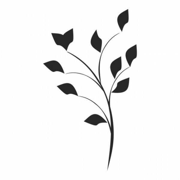 Sticker Simple Floral Flower Leaves