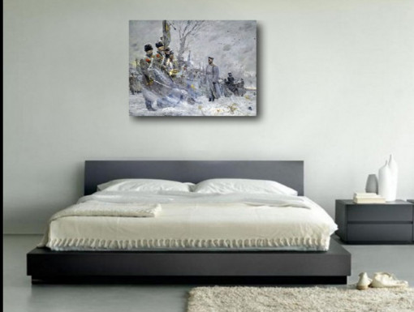 Tablou canvas efect painting - razboi 05