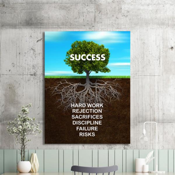 Tablou motivational - Success tree