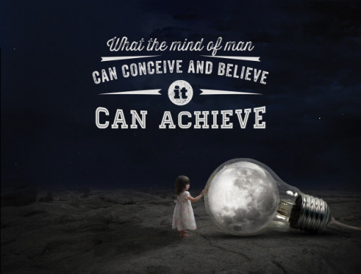 Tablou motivational - What mind can achieve