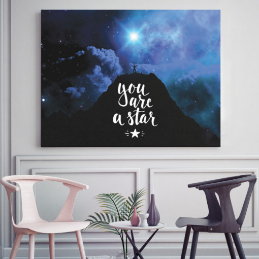 Tablou motivational - You are a star