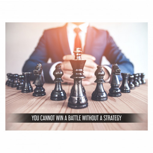 Tablou motivational - You cannot win without a strategy