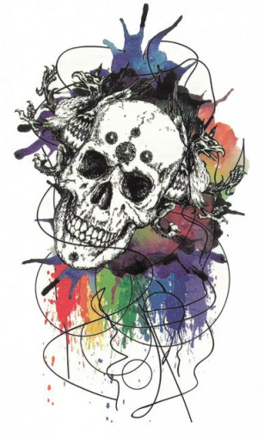 Tatuaj temporar -craniu- 10x17cm