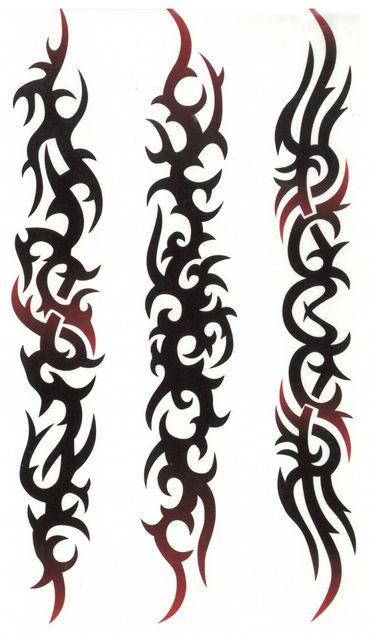 Tatuaj temporar -semne de foc- 17x10cm