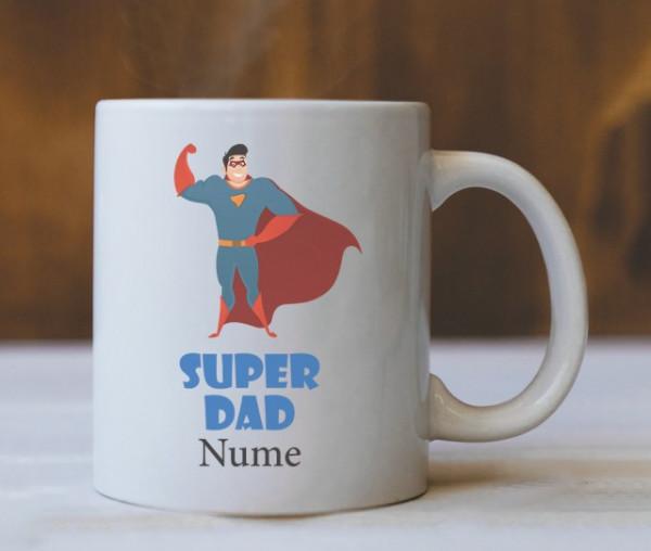 Cana Cu Mesaj - Super Dad (Nume)