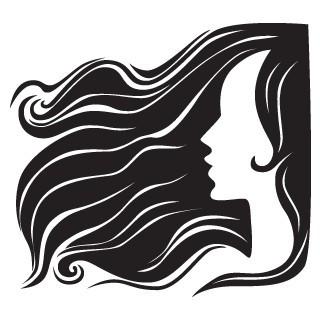 Femeie cu parul in vant