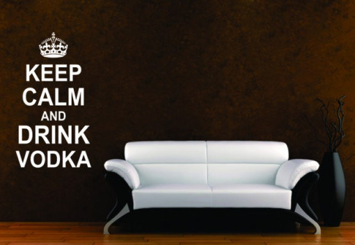Poze Keep calm and drink vodka