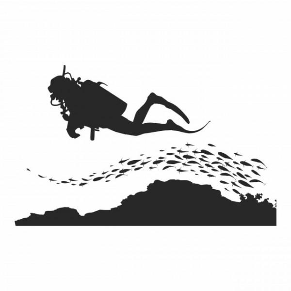 Scuba Diving Under The Sea