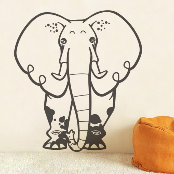 Sticker De Perete Elefantul Murdarel