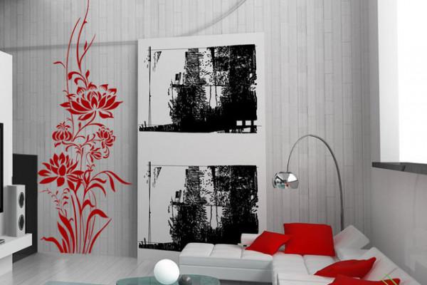Sticker De Perete Floare Decorativa