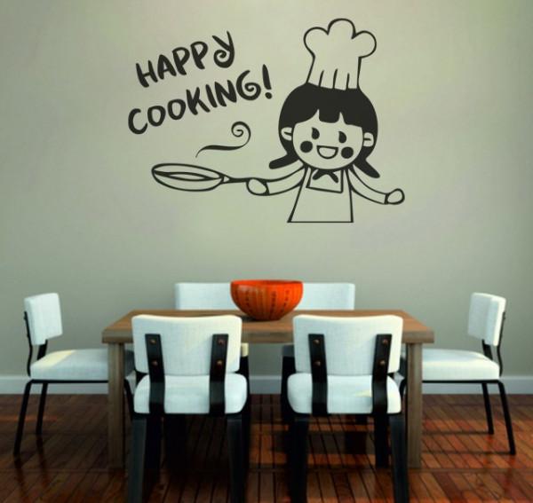 Sticker De Perete Happy Cooking
