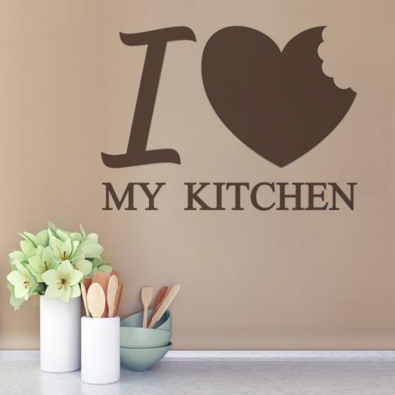 Sticker De Perete I Love My Kitchen