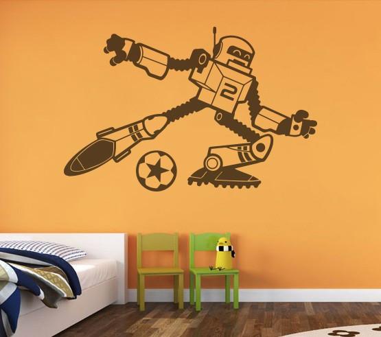 Sticker De Perete Robot Fotbalist 2
