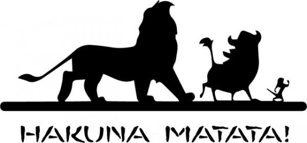 Sticker laptop - Hakuna Matata