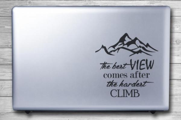 Sticker laptop - The Best View