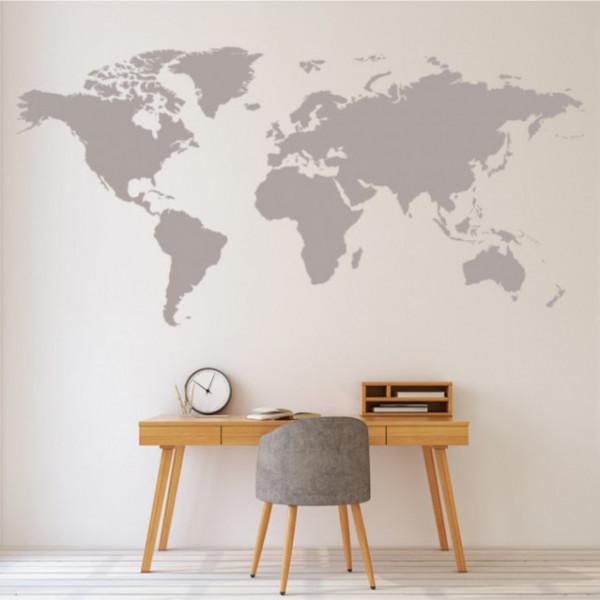 Sticker World Map Educational