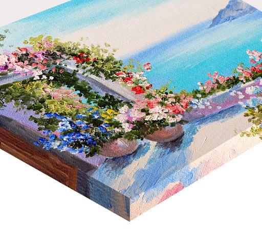 Tablou canvas efect pictura - Terasa cu muscate