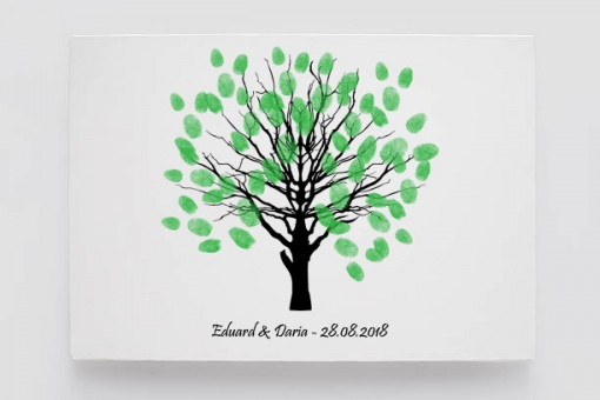 Tablou Canvas Finger Print Tree Elegant
