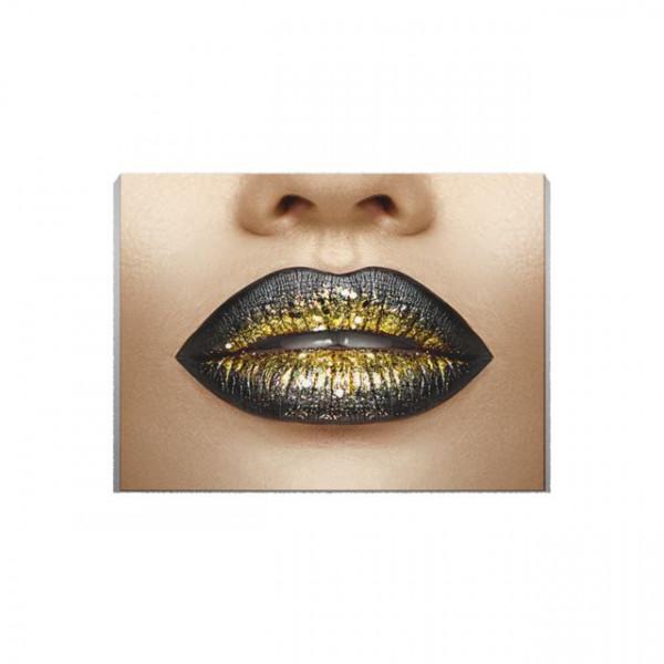 Tablou Canvas Golden lips