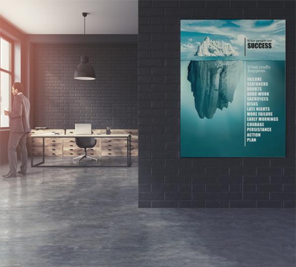 Tablou motivational - Success like an iceberg