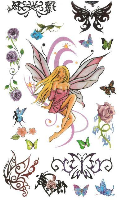 Tatuaj temporar -butterfly girl- 17x10cm
