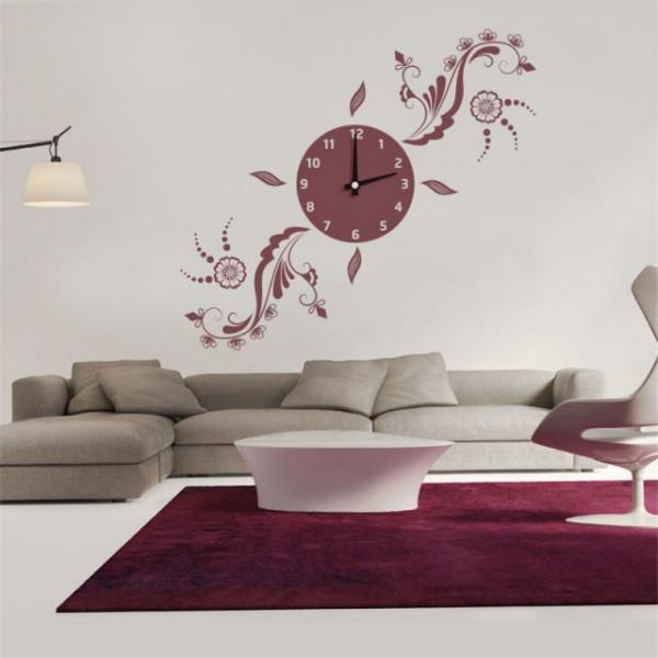 Ceas decorativ multifloral