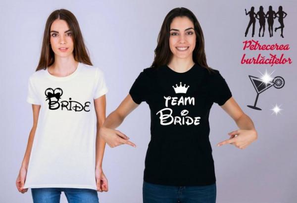 Imprimeu tricou DISNEY TEAM BRIDE