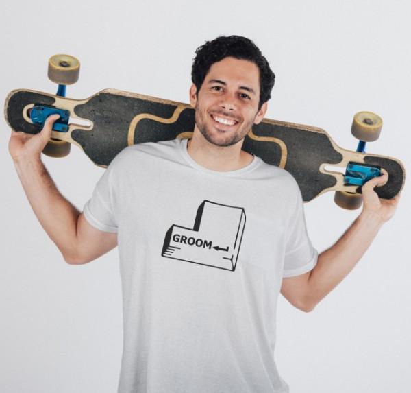 Imprimeu tricou GROOM - HIT ENTER