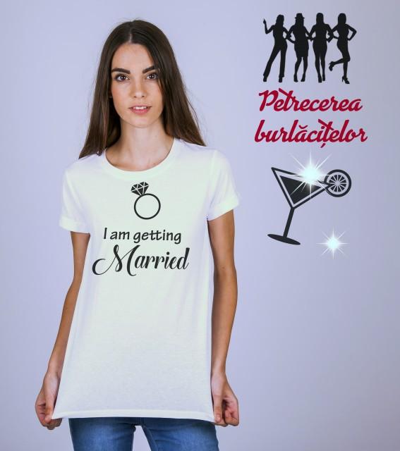 Imprimeu tricou I AM GETTING MARRIED!