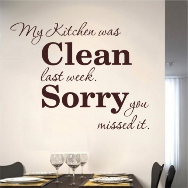 My kitchen was clean