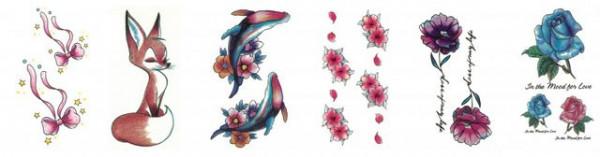 Set 6 tatuaje temporare -in the mood for love- 9x5cm