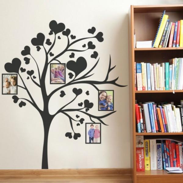 Sticker - Copac cu inimi si poze