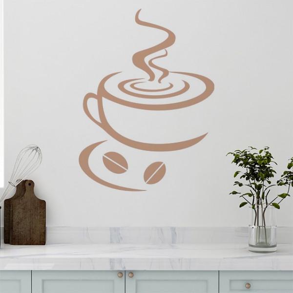 Sticker De Perete Ceasca De Cafea
